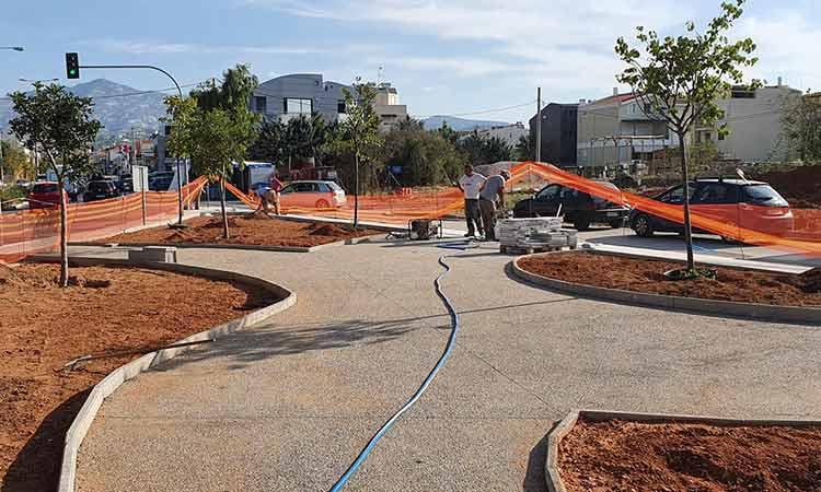 Ολοκληρώνονται οι εργασίες στον κοινόχρηστο χώρο 1117 επί της Ηρακλείτου και Λητούς στον Δήμο Χαλανδρίου