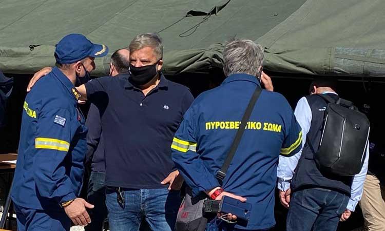Ο Γ. Πατούλης στη Σάμο – Καταγραφή ζημιών για τη χορήγηση βοήθειας