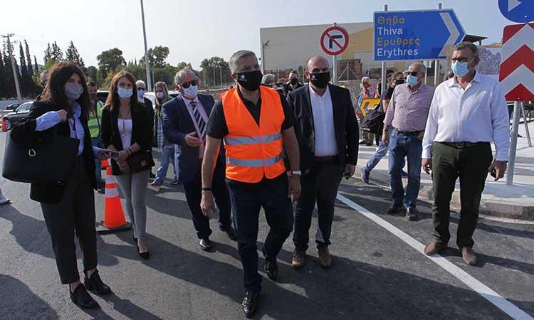 Παραδόθηκε στην κυκλοφορία το νέο σύγχρονο οδικό τμήμα της Παλαιάς Εθνικής Οδού Αθηνών-Θηβών
