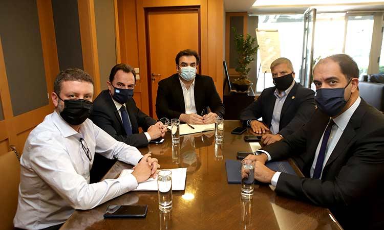 Η ηλεκτρονική διακυβέρνηση στις περιφέρειες απασχόλησε τη συνάντηση του Γ. Πατούλη με τους αρμόδιους υπουργούς