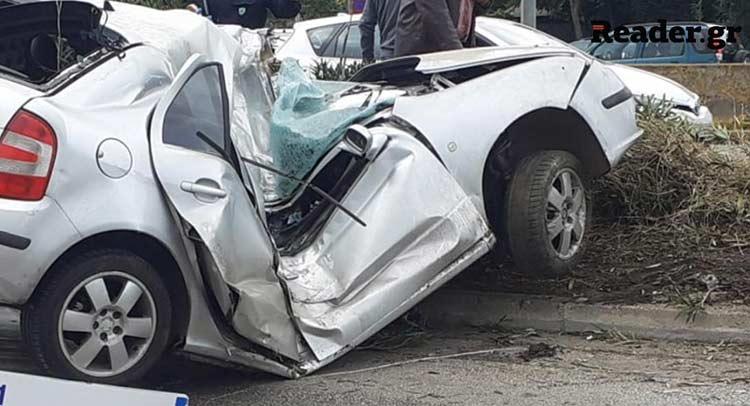 Έχασε τη ζωή του ο οδηγός το όχημα του οποίου καρφώθηκε σε κολόνα στα Σίδερα Χαλανδρίου