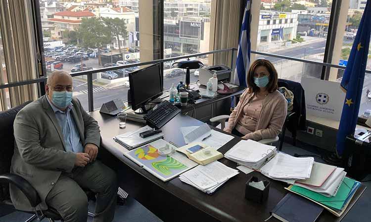 Συνάντηση εργασίας Ν. Μπαρμπούνη με την αντιπεριφερειάρχη Π.Ε. Βόρειου Τομέα Λ. Κεφαλογιάννη