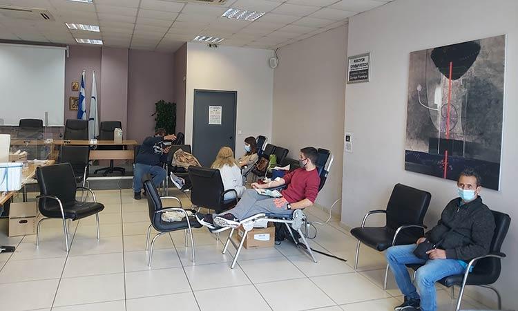 Επιτυχής η εθελοντική αιμοδοσία της 17ης Νοεμβρίου στην Αγ. Παρασκευή