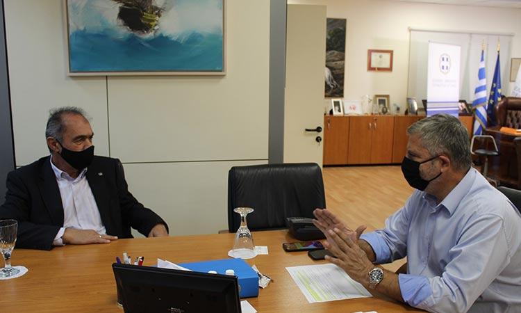 Συνάντηση περιφερειάρχη Αττικής με τον δήμαρχο Νίκαιας-Αγ. Ι. Ρέντη