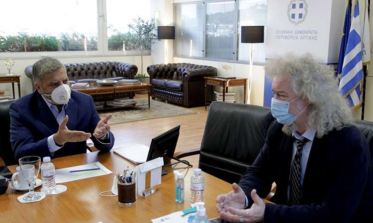 Για ζητήματα άστεγων χρηστών ναρκωτικών στην Αθήνα συζήτησαν Γ. Πατούλης και Χ. Κουϊμτσίδης
