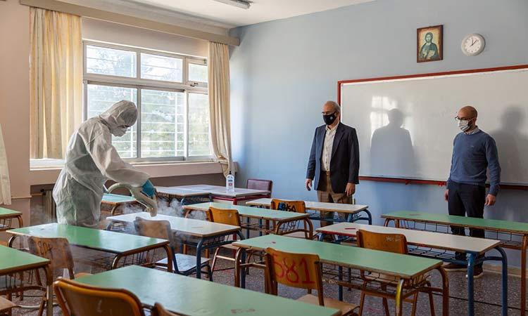 Απολυμάνσεις σε γυμνάσια και λύκεια του Δήμου Κηφισιάς ενόψει επαναλειτουργίας