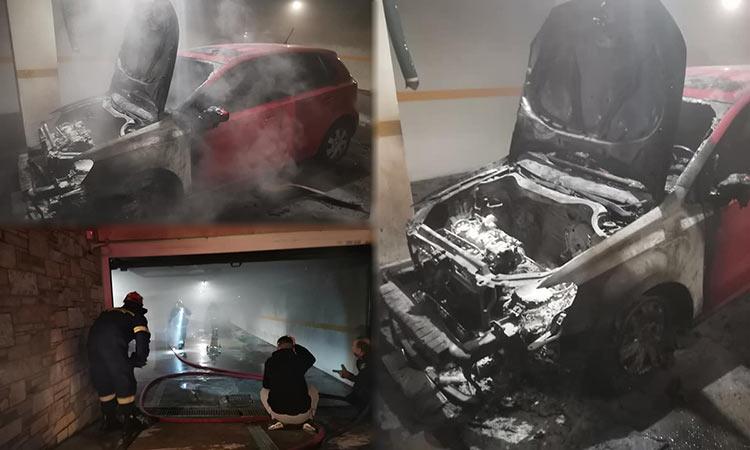 Φωτιά σε Ι.Χ. αυτοκίνητο σε υπόγειο χώρο στάθμευσης στα Βριλήσσια