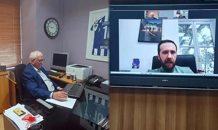 Τηλεδιάσκεψη Π. Ιωάννου με τον δ/νοντα σύμβουλο της Εταιρείας Ανάπτυξης και Τουριστικής Προβολής του Δήμου Αθηναίων