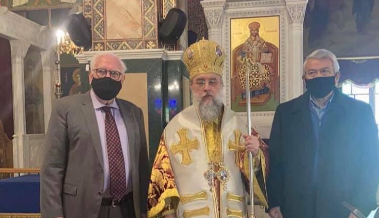 Στη θεία λειτουργία υπέρ του Αγ. Γεωργίου εν Ιωαννίνοις στον Ι.Ν. Αγ. Παντελεήμονα στην Πεύκη ο Π. Ιωάννου