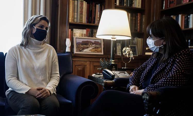 Συνάντηση Μπεκατώρου – Σακελλαροπούλου στο Προεδρικό Μέγαρο