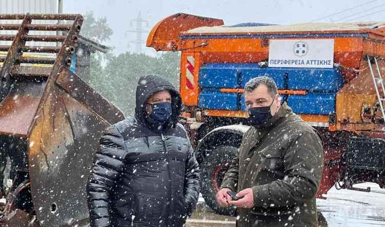 Αυτοψία Γ. Πατούλη στο Κέντρο Διαχείρισης Αποχιονισμού της Περιφέρειας Αττικής