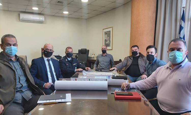Συνάντηση εργασίας για την ασφάλεια στη Μεταμόρφωση είχε ο δήμαρχος Στρ. Σαραούδας