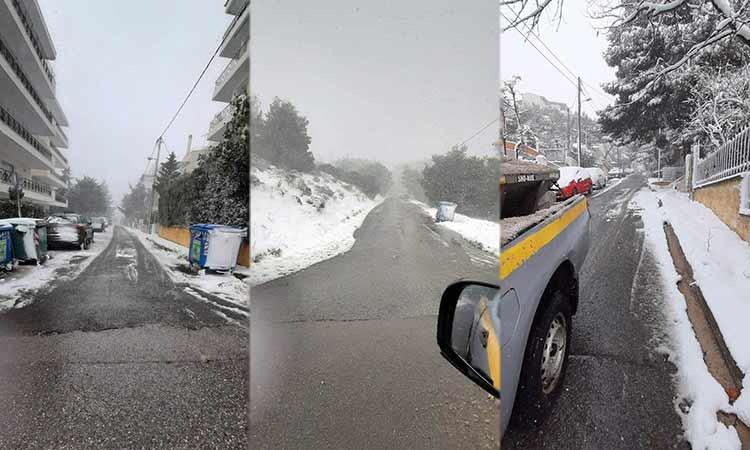 Προσπελάσιμο το οδικό δίκτυο στον Δήμο Πεντέλης – Σε επιφυλακή ο μηχανισμός Πολιτικής Προστασίας