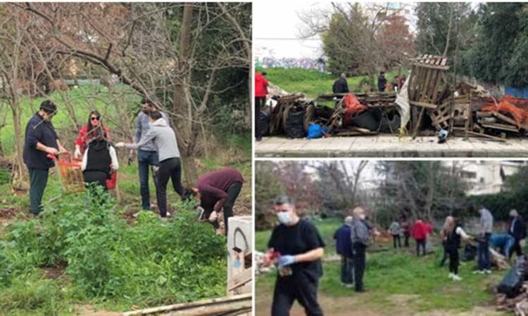 Η νεολαία της Νίκης των Πολιτών καθάρισε οικόπεδο στο Κοντόπευκο Αγ. Παρασκευής