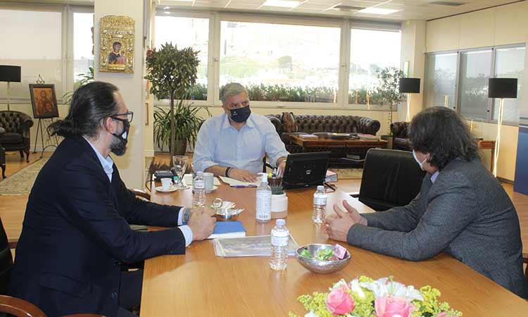 Συνάντηση περιφερειάρχη Αττικής με τον πρόεδρο της Ελληνικής Παραολυμπιακής Επιτροπής