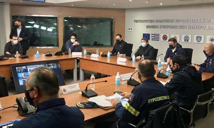 Ολοκληρώθηκε η νέα ευρεία σύσκεψη στην Πολιτική Προστασία για την κακοκαιρία