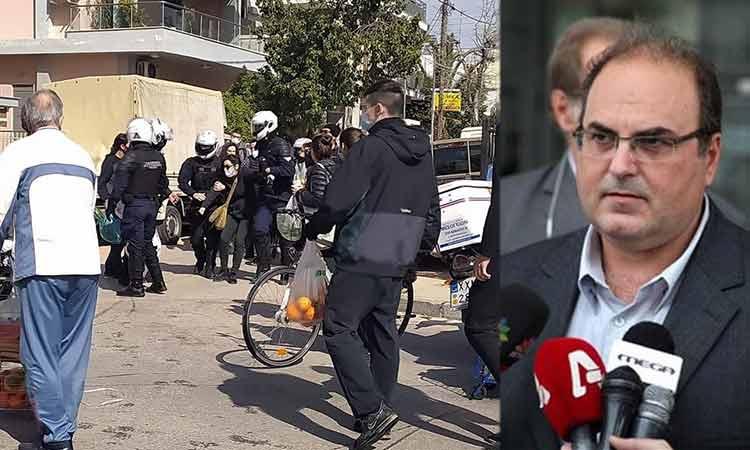 Επέμβαση ΜΑΤ στο Χαλάνδρι – Σκληρή καταδίκη από τον δήμαρχο Σ. Ρούσσο