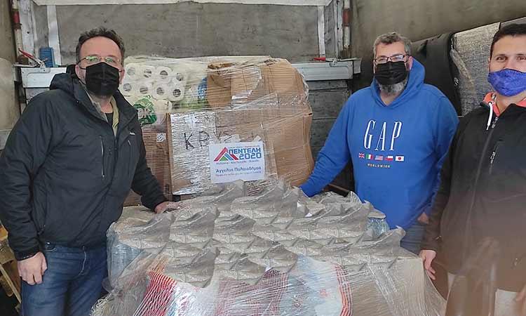 Η Πεντέλη 2020 συμμετείχε σε δράση του Συλλόγου Γονέων Κρυσταλλείου για τους σεισμόπληκτους της Ελασσόνας