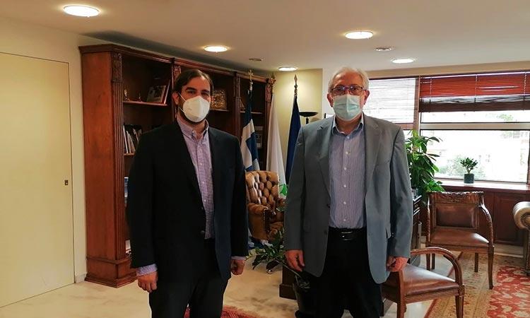 Οι δυνατότητες συνεργασίας μεταξύ Δήμου Αμαρουσίου και ΜΟΔ απασχόλησαν Θ. Αμπατζόγλου και Γ. Παπαδημητρίου