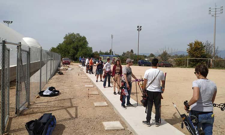 Αναβαθμίστηκε ο χώρος ανοιχτού προπονητηρίου Τοξοβολίας στο αθλητικό κέντρο Χολαργού
