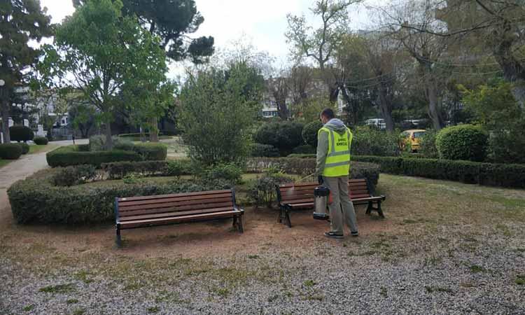 Απολυμάνσεις δημόσιων χώρων από ειδικό συνεργείο του Δήμου Κηφισιάς