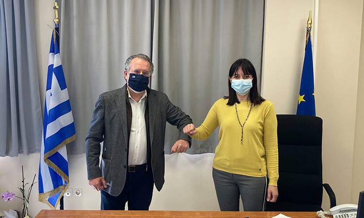 Με τον βουλευτή Γ. Κουμουτσάκο συναντήθηκε η δήμαρχος Πεντέλης Δ. Κεχαγιά