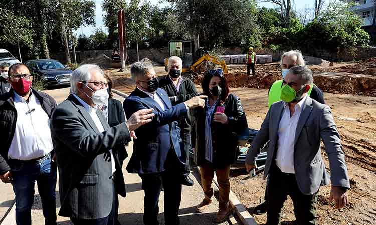 Επίσκεψη Γ. Πατούλη σε σημαντικά έργα υποδομών στο Μαρούσι