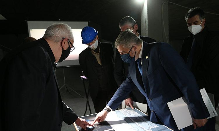 Αυτοψία Γ. Πατούλη στις εργασίες εκσυγχρονισμού κτηριακών εγκαταστάσεων στο Ωδείο Αθηνών