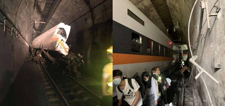 Τραγωδία στην Ταϊβάν: Εκτροχιάστηκε τρένο μέσα σε τούνελ – Τουλάχιστον 36 νεκροί