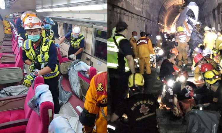 Ταϊβάν: Στους 48 οι νεκροί από τον εκτροχιασμό τρένου μέσα σε τούνελ