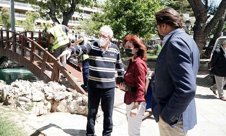 Αυτοψίες δημάρχου σε έργα καθαριότητας και πρασίνου στο Μαρούσι