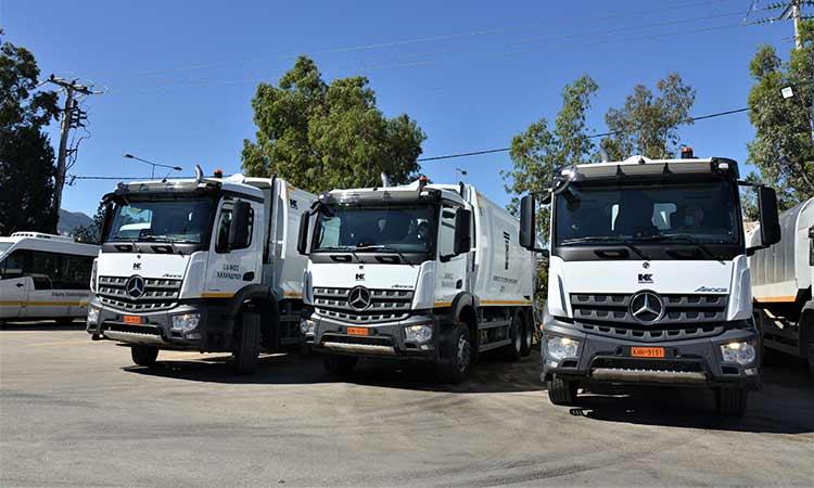 Τρία νέα απορριμματοφόρα στον στόλο της Καθαριότητας Δήμου Χαλανδρίου