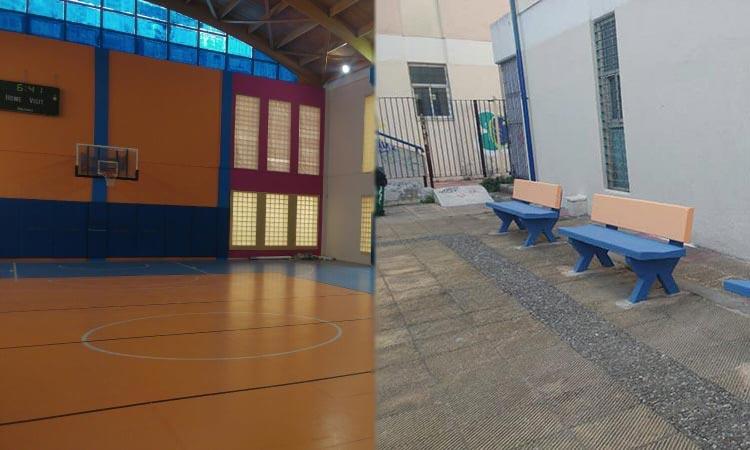Αναβάθμιση εσωτερικών και εξωτερικών χώρων στο κλειστό γήπεδο της οδού Κάλβου στη Ν. Ιωνία