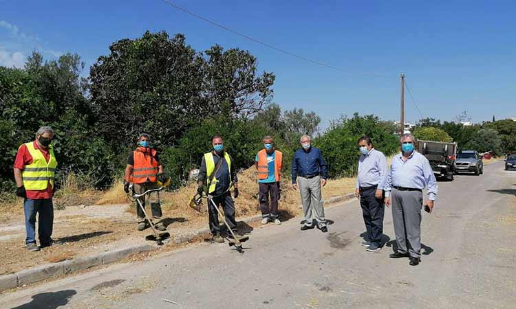 Αυτοψία δημάρχου Αμαρουσίου σε έργα καθαριότητας, πρασίνου και τεχνικών συντηρήσεων στην περιοχή του Στούντιο Α