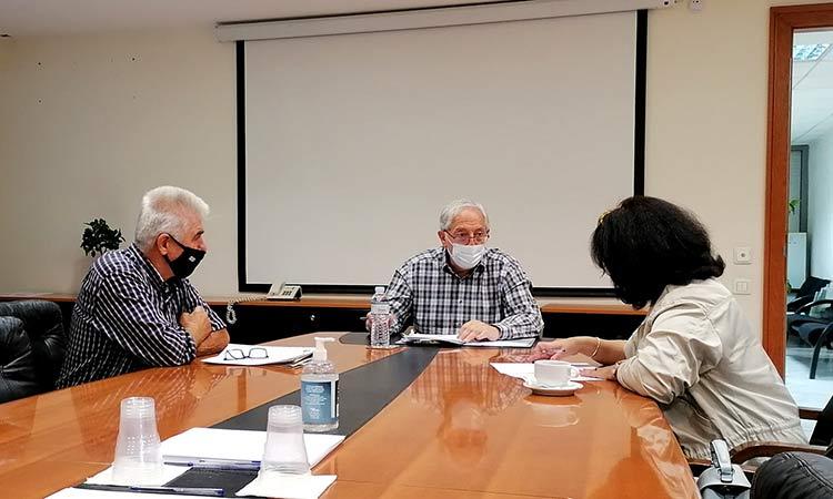 Για τη μεταφορά της έδρας του Συλλόγου «Νίκος Καπετανίδης» συζήτησαν διοίκηση και Θ. Αμπατζόγλου
