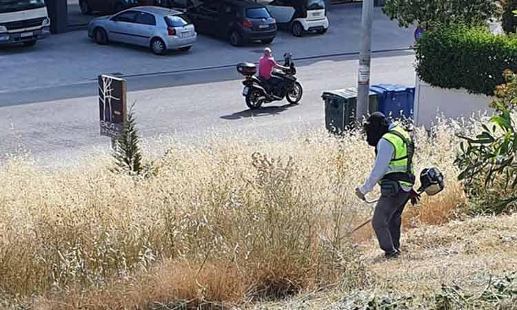 Από τον λόφο Δηλαβέρη ξεκίνησαν οι καθαρισμοί χόρτων στη Μεταμόρφωση