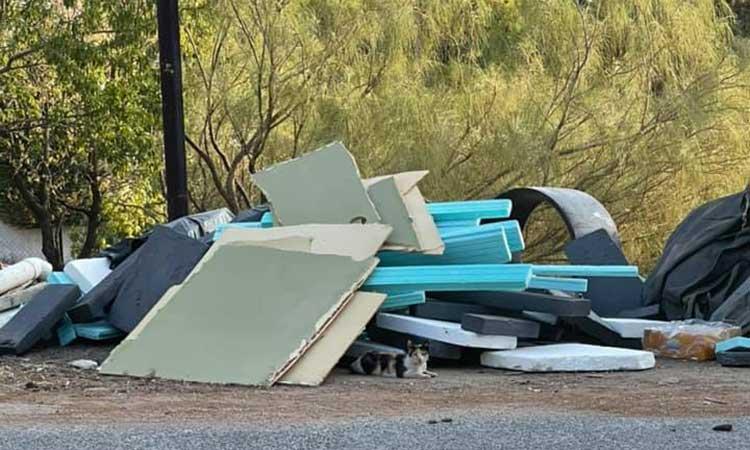 Μπάζα κοντά στο σπίτι του γ.γ. Διαχείρισης Αποβλήτων στα Μελίσσια άφησε ασυνείδητος πολίτης