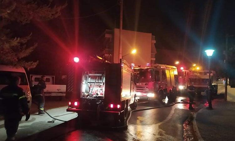 Άμεση επέμβαση της Πολιτικής Προστασίας Δήμου Πεντέλης σε πυρκαγιά στην οδό Τήνου
