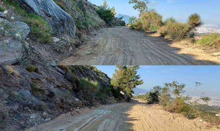 Ο ΣΠΑΠ συνεχίζει το πρόγραμμα συντήρησης κομβικών δασικών δρόμων στο Πεντελικό