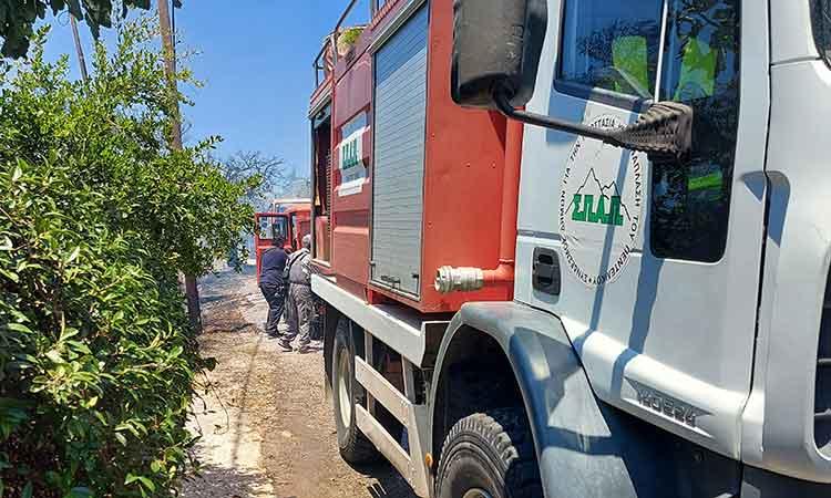 Άμεση η παρέμβαση του ΣΠΑΠ στην πυρκαγιά που ξέσπασε στον Λόφο Παλλήνης