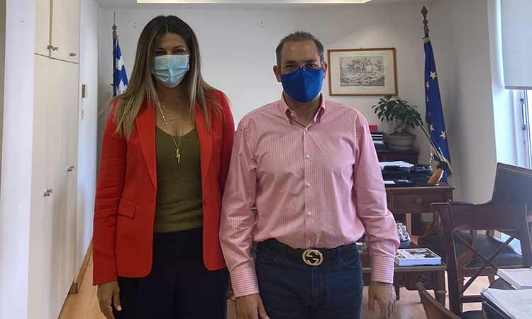 Με την υφ. Τουρισμού Σ. Ζαχαράκη συναντήθηκε ο αντιδήμαρχος Οικονομικών Αγ. Παρασκευής Τ. Κωστόπουλος