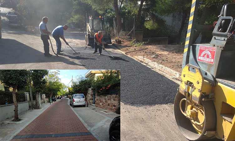 Συνεχίζονται οι επισκευές οδοστρωμάτων και οι ασφαλτοστρώσεις στον Δήμο Κηφισιάς