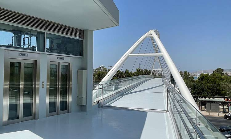 Παραδίδεται στους πολίτες την Τετάρτη 8/9 η νέα σύγχρονη πεζογέφυρα στο ύψος του Π. Φαλήρου, επί της Λ. Ποσειδώνος