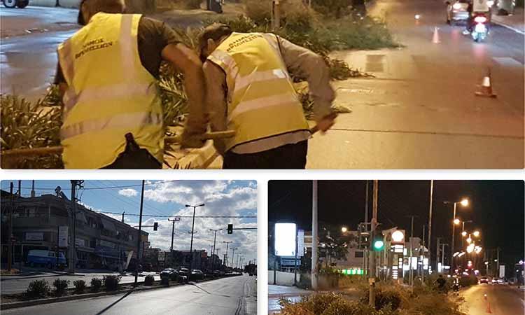 Παρεμβάσεις σε κεντρικούς άξονες και οδούς από την υπηρεσία Πρασίνου του Δήμου  Βριλησσίων