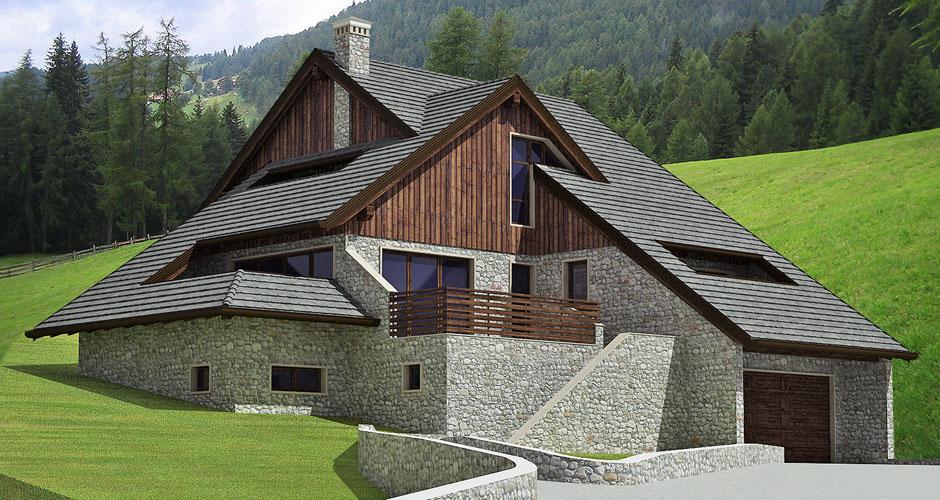 Progettazione chiavi in mano  Progetto casa in montagna