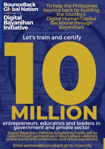 BounceBack movement launches Digital Bayanihan Initiative to train 10 million entrepreneurs, educators and leaders in government and private sector