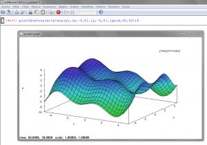 Representación de una función trigonométrica