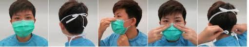 Οδηγίες εφαρμογής απλής χειρουργικής μάσκας