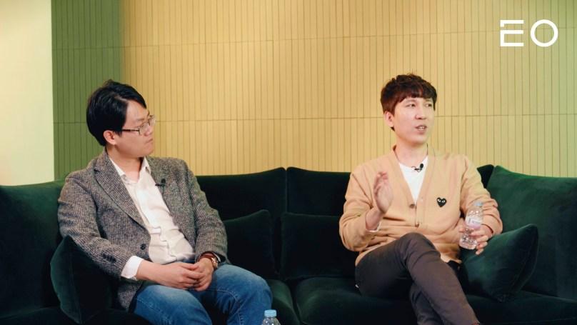 (왼쪽부터) 럭스로보 오상훈 창업자, 해시드 김서준 대표
