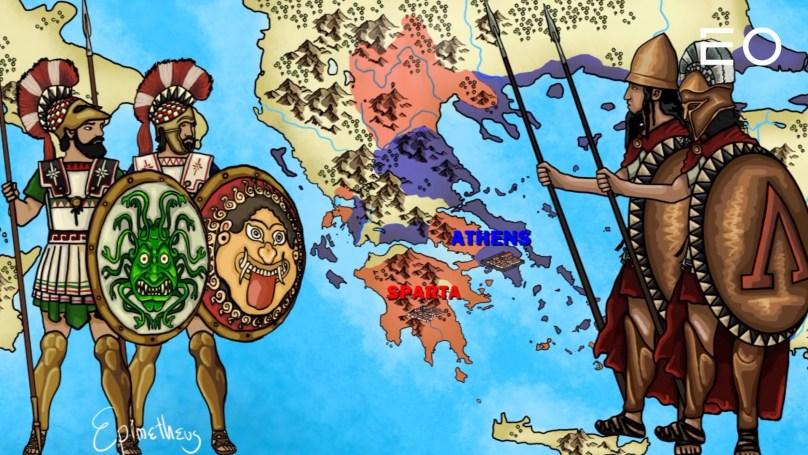 펠로폰네소스 전쟁을 벌인 아테네와 스파르타